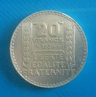 #0552# JOLIE PIÈCE DE 20 FRANCS TURIN 1934/ ARGENT