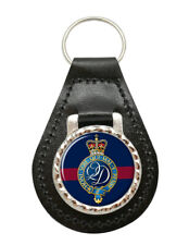 Queen's Division, British Army Leather Key Fob
