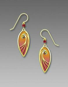 Adajio Jewelry SHOOTING STAR TEARDROP Earrings 7782 Pink Orange Dangle