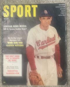 1956 SPORT Magazine August w/ Vinegar Bend Mizell on Cover VG