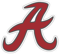 "University of Alabama Crimson Tide Retro A NCAA Color Die Cut Vinyl Decal 2""-28"""