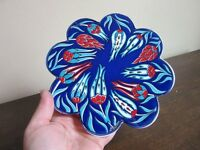 Artnicea ceramic tile. Flowers Blue,& red