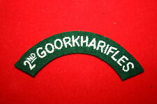 BRITISH ARMY 2ND GOORKHA GURKHA RIFLES CLOTH SHOULDER TITLE NEPAL #2