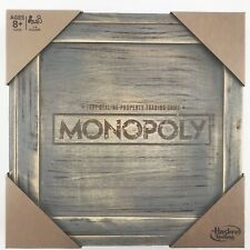 MONOPOLY GAME Rustic Edition Series Wood Board Box Tokens Storage Hasbro Toy NEW