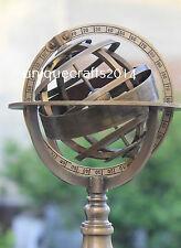 Handmade Vintage Marine Brass Armillary Sphere Globe Replica Tabletop Decor Item