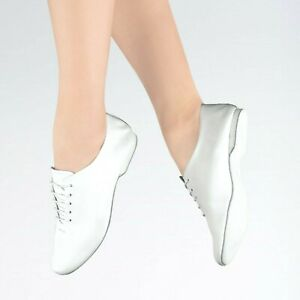 NEW FREED WHITE LEATHER FULL SUEDE SOFT SOLE JAZZ DANCE SHOES CHILDRENS & ADULTS