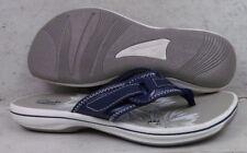 NEW Clarks Womens Breeze Mila Navy Thong Flip Flops Sandals Shoes 00797 size 8 M