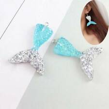 10PCS Mixed Glitter Mermaid Tail Resin Pendant Fit DIY Jewelry Findings Parts Q