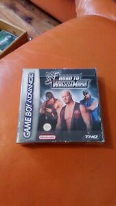 NINTENDO GAMEBOY ADVANCE GAME WWF ROAD TO WRESTLEMANIA BOXED INSTRUCTIONS
