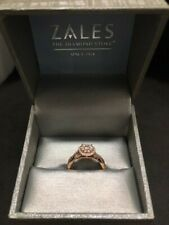 Zales 14k Rose gold ring aprox .50tcw, 3gr, size 6