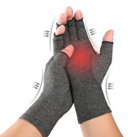 1 Pair Fit Arthritis Compression Gloves Hand Support Joint Pain Relief Hot Sa I2