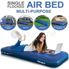 Inflatable Single Flocked Air Bed Camping Luxury Relaxing Airbed Mattress Qualit