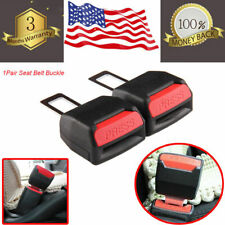 2pcs Car Safety Seat Belt Buckle Extension Extender Clip Alarm Stopper Universal