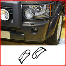For Land Rover LR4 Discovery4 2010-2015 Black Front Head Light Guards Cover 2PCS