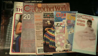 Lot Of 8 Crochet Pattern Books & Leaflets- Afghan, Throw, Baby, Doily, Kids