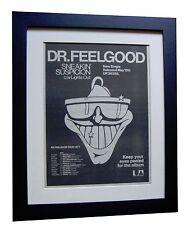 DR. FEELGOOD+Suspicion+TOUR+POSTER+AD+RARE ORIGINAL 1977+FRAMED+FAST GLOBAL SHIP