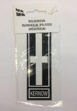 KERNOW NUMBER PLATE STICKER CORNWALL CORNISH FLAG DESIGN 12cm x 4cm