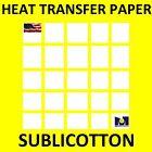 SUBLICOTTON Heat Transfer Paper 8.5 x 11 (50) Sheets for Dye Sublimation cotton