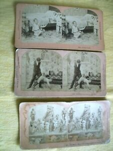 THREE ANTIQUE STEREO VIEW PICTURES by KILBURN~ MANUFACTURERS (1898-1904)