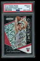 2017 Panini Prizm Fast Break Emergent Lauri Markkanen Bulls RC Rookie Card PSA 9