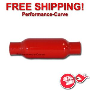 "Cherry Bomb Glasspack Exhaust Muffler 2"" IN  OUT - 12"" Body - 87520CB"