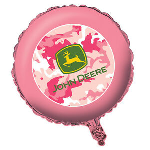 John Deere Pink Camo Foil Balloon, Country Girl Birthday Party Baby Shower Decor