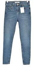Topshop SUPER SKINNY JAMIE High Waisted Blue Stretch Jeans Size 12 W30 L34