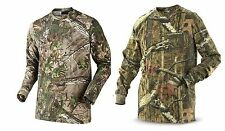 Mens Camouflage Camo Real Tree Jungle Forest Print Long Sleeved TShirt Top S-5XL