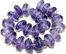 "Sistersbeads ""Blue Purple"" Handmade Lampwork Beads"