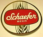 Vintage Schaefer Beer Sticker Large Size New Old Stock Rare