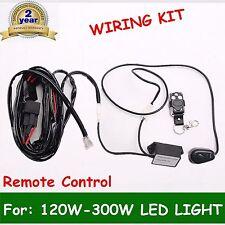 Remote Control Wiring Harness Kit Switch Relay Led Light Bar 120W 240W 300W FL
