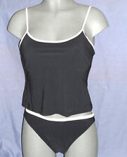 LEPEL BLACK UNDERWIRED TANKINI TOP & BRIEFS  SET SIZE 14 A/B CUP  RRP £30