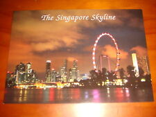 The Singapore Skyline featuring Singapore Flyer, new postcard, mint condition
