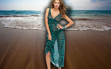 NWT GOTTEX long sheer BATHING SUIT COVER-UP Dress size - SMALL $118 retail