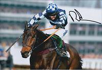 Richard JOHNSON SIGNED Jockey 12x8 Photo AFTAL COA Autograph Gold Cup WINNER