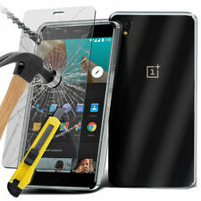 Ultra Thin Clear TPU Gel Skin Case Cover & Glass for OnePlus X / One Plus X