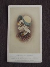 YOUNG GIRL - COSTUME OF PAYS BAS ( NETHERLANDS ) - Vtg 1880's CDV PHOTO