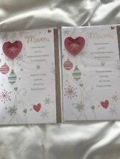 2 Lovely Mum Christmas Greetings Cards