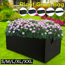 Garden Planting Grow Bag Fabric Container Vegetable Flower Planter Rectangle