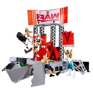 WWE Raw Wrekkin Entrance Stage Playset Breakable Ramp Smashable Panels Wrestling