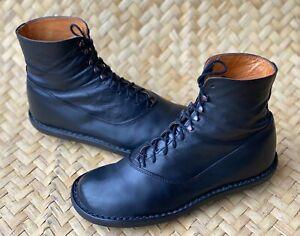 TRIPPEN Women's Black Lace Up Ankle Boots Size 38 EU | 8 US | 5 UK