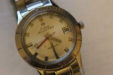 Vintage Zodiac Aerospace GMT,Silver Dial Pilot's Wrist Watch Automatic Runs Good