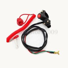 Engine Cord Lanyard Kill Stop Switch Safety Tether For  Motorcycle Quad ATV Boat
