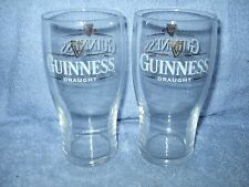 Guinness Draught PINT GLASSES- GOLD ON GOLD  ale beer