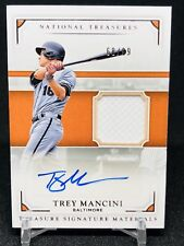 2017 National Treasures Trey Mancini Auto Patch RC SP /99 Orioles