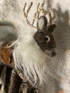 Felted Reindeer Wool Handmade Figure Ornament Christmas Reindeer Decorations