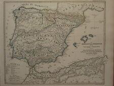 1846 SPRUNER ANTIQUE HISTORICAL MAP ~ EMPIRE OF CORDOBA SPAIN 1028 MAJORCA