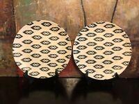 2 NEW NATE BERKUS Design ARROWS DIAMONDS Black White SERVING Platters Plates