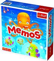 Trefl Kids Classic Sea Animal Memos Cards Strategy Board Game Play Fun Children