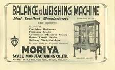 1953 Balance And Weighing Machine Moriya  Scale Manufacture Ad